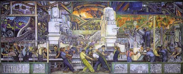 Diego Rivera's Detroit Industry or Man and Machine, courtesy of Huffington Post