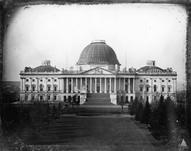 US Capitol - 1846 photograph by John Plumbe