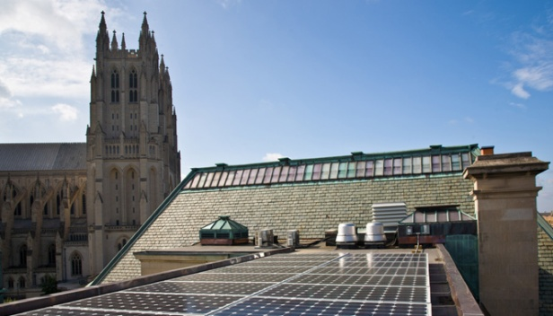 Solar PV near the National Cathedral