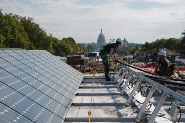 Solar PV near the Capitol Building