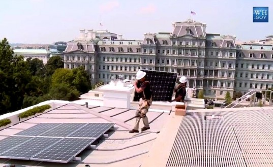 Solar PV on the White House