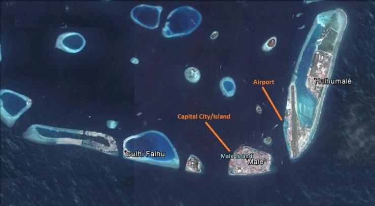 Male, Maldives and its international Airport