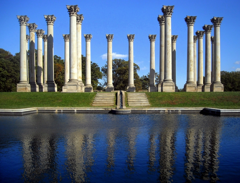 Capitol Columns in the National Arboretum, 22 of the 24 columns from the US Capitol Building's original East Portico