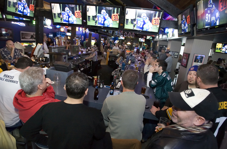 Arooga's sports bar in Camp Hill was very crowded during the New York Giants and Philadelphia Eagles game Sunday afternoon. CHRISTINE BAKER, The Patriot-News
