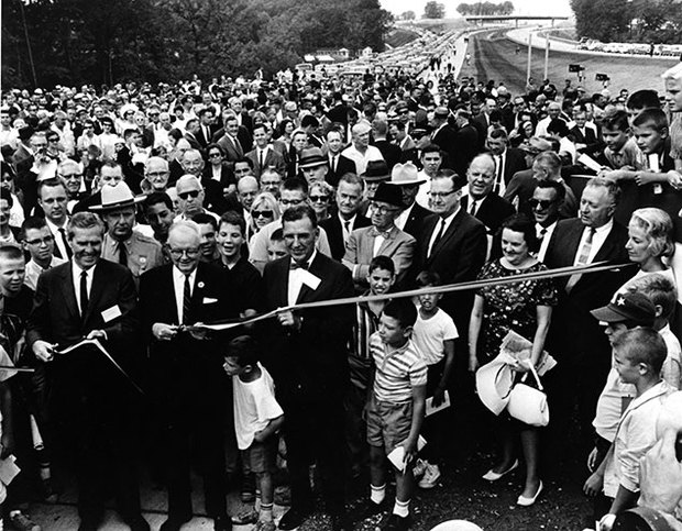 Ceremony for the final link of the DC Beltway, Maryland. August 17, 1964.