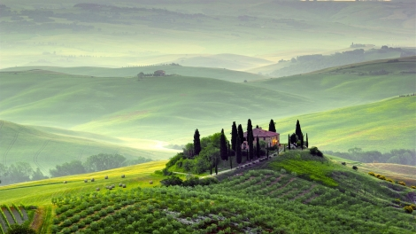 farms-wondrous-hilltop-farms-pienza-tuscany-hills-fields-mist-italy-spring-scenery-trees-morning-fog-green-photo-gallery