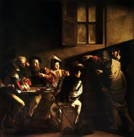 Image via https://www.artsy.net/artwork/michelangelo-merisi-da-caravaggio-the-calling-of-st-matthew